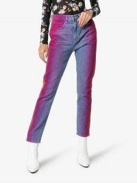 Jordache Rainbow Wash Cropped Jeans | multicolored denim