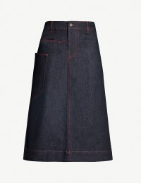 JOSEPH Kenneth stretch-denim skirt in pure indigo