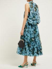 ERDEM Julianne Fitroy-print silk voile gown | Matches Fashion