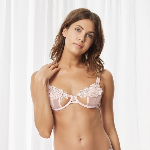 BLUEBELLA JULIENNE BRA PALE PINK – applique cut-out bras – pretty lingerie