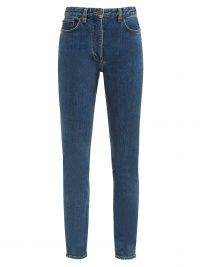 THE ROW Kate high-rise slim-leg jeans ~ stretch cotton denim