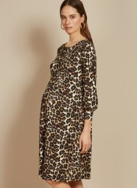 ISABELLA OLIVER KATELYN DRESS LEOPARD PRINT – maternity fashion