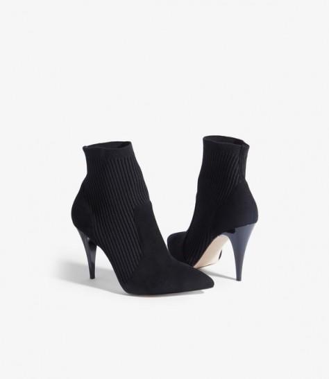 KAREN MILLEN Knitted Sock Boots in Black