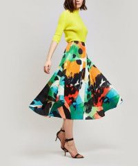 PLEATS PLEASE ISSEY MIYAKE Laughing Rope Midi Skirt | bold multicoloured prints