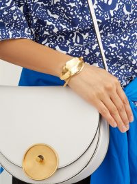 MARNI Leaf-fastening cuff ~ gold tone statement cuffs