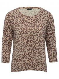 Leopard Print Top In Oatmeal | M&Co