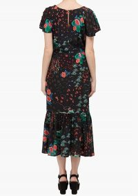 The Dressing Romm LILY AND LIONEL RAE DRESS – BLACK WONDERLAND – floral print