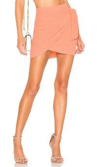 Lovers + Friends Kloss Mini Skirt in Peach | side tie wrap skirts