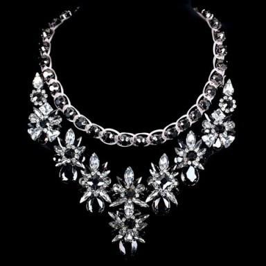 Luxury crystal and rhinestone necklace – Tutu's Jewellery - flipped