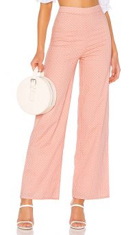 MAJORELLE Brandy Pants in Pink Dot | retro summer trousers