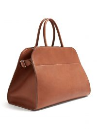 THE ROW Margaux 15 leather handbag in tan ~ minimalist accessories