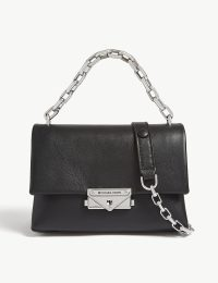 MICHAEL MICHAEL KORS Cece extra-small leather cross-body bag in black | chain strap crossbody bags