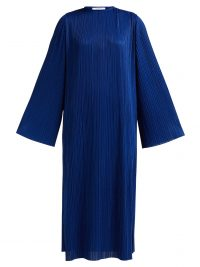 GIVENCHY Micro pleated midi dress in blue