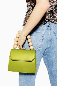Topshop Miesha Ball Handle Grab Bag in Green