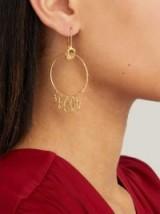 ORIT ELHANATI Monika gold-plated hoop earrings ~ drop hoops