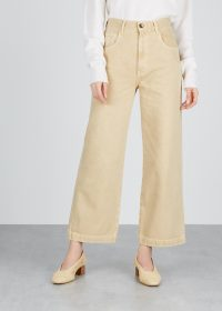 NANUSHKA Marfa cream wide-leg jeans ~ neutral denim