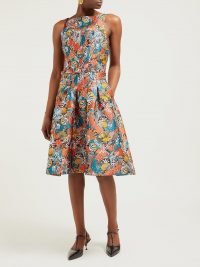 MARY KATRANTZOU Naramina shell-brocade midi dress | Matches Fashion
