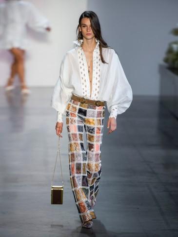 RUNWAY ZIMMERMANN Ninety-Six cut-out high-neck shirt | Matches Fashion