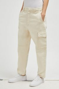 FRENCH CONNECTION NOMI CARPENTER DENIM JEANS in Ecru | neutral denim