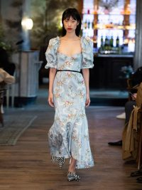 RUNWAY BROCK COLLECTION Olaria floral-print bustier cotton-blend gown | Matches Fashion