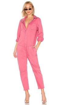 One Teaspoon Paradise Utility Jumpsuit in Pink | girly / feminine utilitarian fashion
