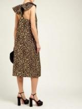 ROCHAS Onyx metallic jacquard leopard-print dress ~ animal glamour