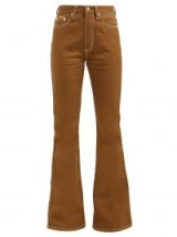 EYTYS Oregon high-rise flared jeans in brown ~ 70s style denim