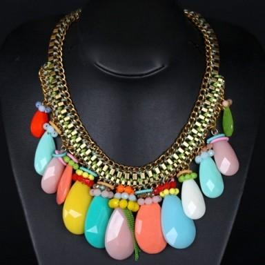 Oval drop necklace – Tutu's Jewellery