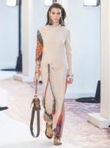 CHLOÉ Paisley print-insert crepe maxi dress in beige / chic bohemian clothing
