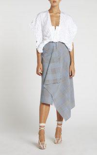 ROLAND MOURET PANAMA SKIRT in NAVY – asymmetric skirts