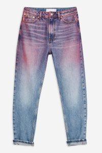 Topshop Pink Ombre Mom Jeans | multicoloured denim