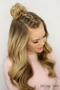 Mohawk braid hairstyle