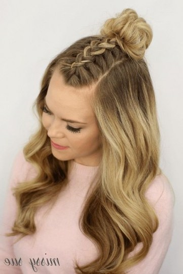 Mohawk braid hairstyle - flipped