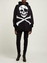 VETEMENTS Pirate-print oversized cotton hooded sweatshirt | Matches Fashion