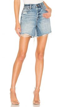 PISTOLA Devin High Rise Cut Off Short in Petaluma | frayed denim shorts