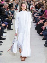 VALENTINO Pleated cotton-poplin shirtdress in white ~ maxi shirt dress ~ simple elegance