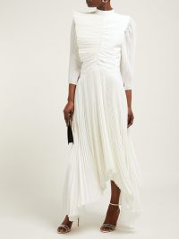 GIVENCHY Pleated silk crepe de Chine gown | Matches Fashion