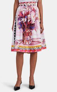 PRADA Floral Cotton Poplin Skirt ~ printed summer skirts
