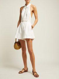 ZIMMERMANN Primrose belted linen jumpsuit | Matches Fashion