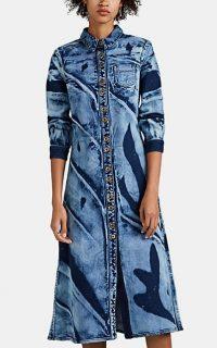 PROENZA SCHOULER Bleached Denim Shirtdress ~ hand-dyed shirt dress