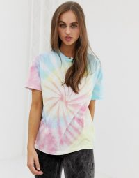 Pull&Bear oversized tee in tie dye pink / multi-coloured tee