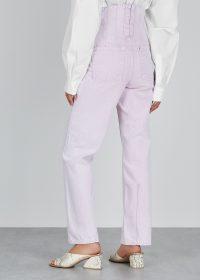 PUSHBUTTON Lilac straight-leg jeans ~ corset detail waist