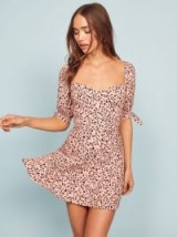 REFORMATION Quin Dress in Pink Panther / animal spot print dresses