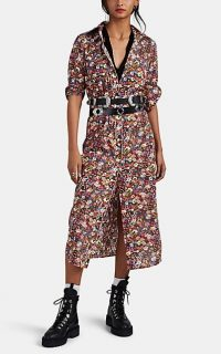 R13 Floral Cowboy Cotton Shirtdress ~ modern prairie girl