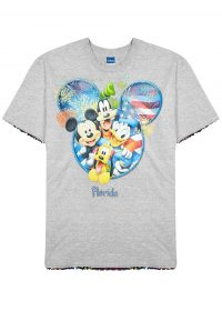 RAGYARD Grey mélange sequinned jersey T-shirt / sequin mouse tee