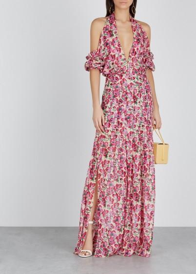 RAQUEL DINIZ Jess floral-print silk-chiffon dress ~ glamorous summer look