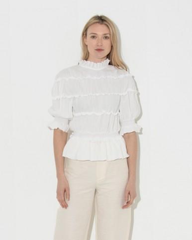 REJINA PYO off white mina blouse | romantic and feminine
