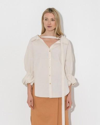 REJINA PYO ecru amber shirt | modern romance