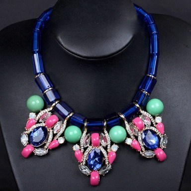 Rhinestone & crystal necklace – Tutu's Jewellery - flipped