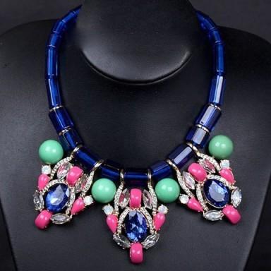 Rhinestone & crystal necklace – Tutu's Jewellery